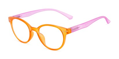 Angle of The Breeze in Orange/Hot Pink, Women's Round Reading Glasses