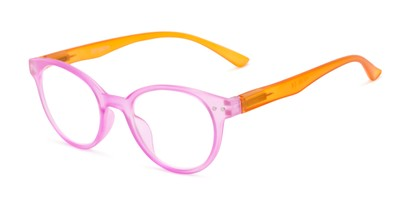 Angle of The Breeze in Hot Pink/Orange, Women's Round Reading Glasses