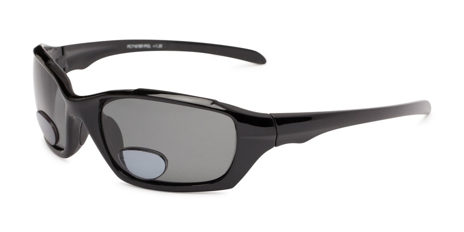 1c6459e8710 Angle of The Bridgewater Polarized Bifocal Reading Sunglasses in Matte  Black with Smoke