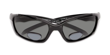 5826822d70 Folded of The Bridgewater Polarized Bifocal Reading Sunglasses in Glossy  Black with Smoke