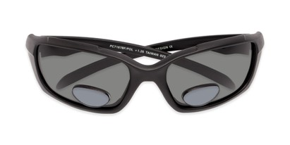 Folded of The Bridgewater Polarized Bifocal Reading Sunglasses in Matte Black with Smoke
