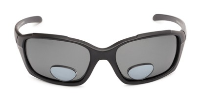 Front of The Bridgewater Polarized Bifocal Reading Sunglasses in Matte Black with Smoke