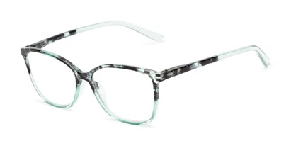 Angle of The Bristol in Mint Green Fade, Women's Cat Eye Reading Glasses