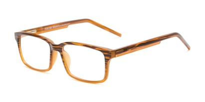 Angle of The Brock - Foster Grant for Readers.com in Brown Stripe Fade, Men's Rectangle Reading Glasses