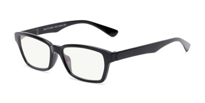 Angle of The Brody Computer Reader in Black, Women's and Men's Rectangle Reading Glasses