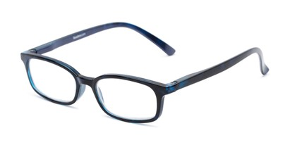 Angle of The Brookside in Dark Blue, Women's and Men's Rectangle Reading Glasses