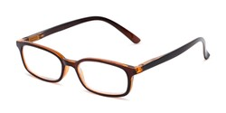 Angle of The Brookside in Brown, Women's and Men's Rectangle Reading Glasses