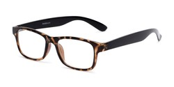 Angle of The Buchanon in Brown Tortoise, Women's and Men's Retro Square Reading Glasses