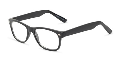 Angle of The Butch Customizable Reader in Matte Black, Women's and Men's Retro Square Reading Glasses