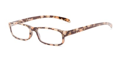 Angle of The Buttercup in Brown Floral, Women's Rectangle Reading Glasses