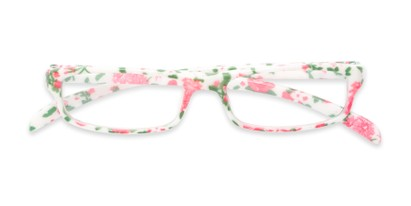 floral small rectangular reader