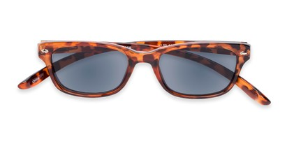 Folded of The Cabo Hanging Reading Sunglasses in Tortoise with Smoke