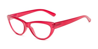 Angle of The Calliope in Red, Women's Cat Eye Reading Glasses