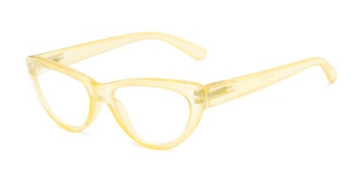 Angle of The Calliope in Yellow, Women's Cat Eye Reading Glasses