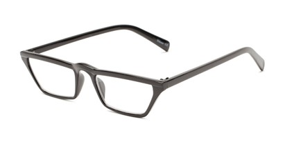 angular cat eye half frame reader