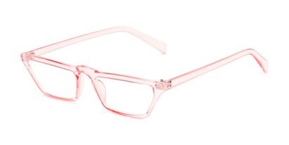 Angle of The Callista in Light Pink, Women's Cat Eye Reading Glasses