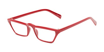 Angle of The Callista in Red, Women's Cat Eye Reading Glasses