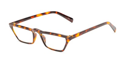 Angle of The Callista in Tortoise, Women's Cat Eye Reading Glasses