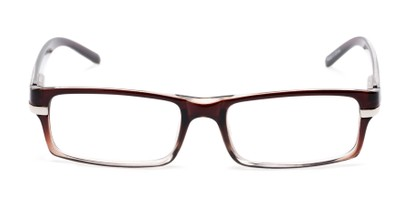 Front of The Cambridge in Brown/Clear
