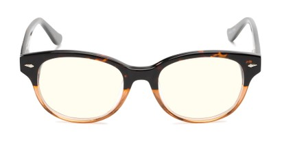 Front of The Canby Unmagnified Blue Light Blocking Glasses in Tortoise Fade