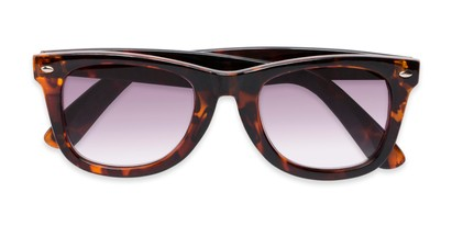 Folded of The Cancun Reading Sunglasses in Tortoise with Smoke