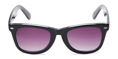 Front of The Cancun Reading Sunglasses in Black with Smoke