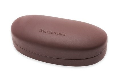 Angle of Large Reading Glasses Case #1004 in Brown Case, Women's and Men's  Hard Cases