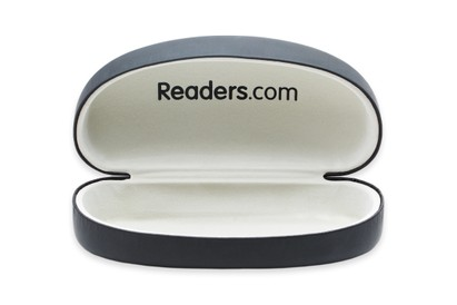 Front of Large Reading Glasses Case #1004 in Black Case