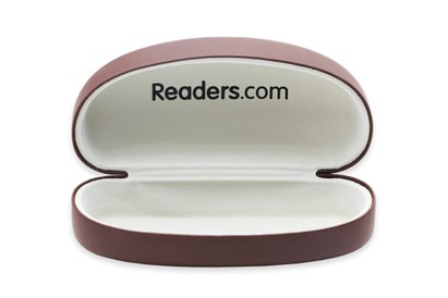 Front of Large Reading Glasses Case #1004 in Brown Case