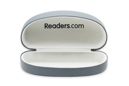 Front of Large Reading Glasses Case #1004 in Grey Case