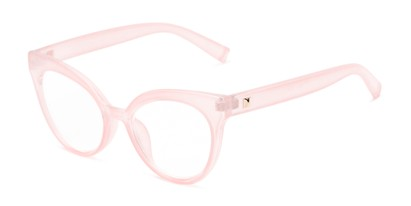 Angle of The Cassi in Pink, Women's Cat Eye Reading Glasses