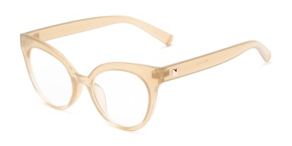 Angle of The Cassi in Light Yellow, Women's Cat Eye Reading Glasses