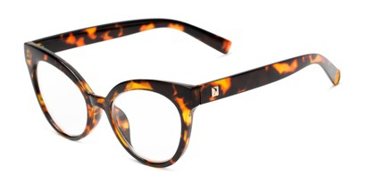 Angle of The Cassi in Dark Tortoise, Women's Cat Eye Reading Glasses