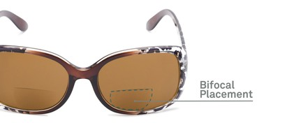 Detail of The Cassia Bifocal Reading Sunglasses in Brown Leopard with Amber