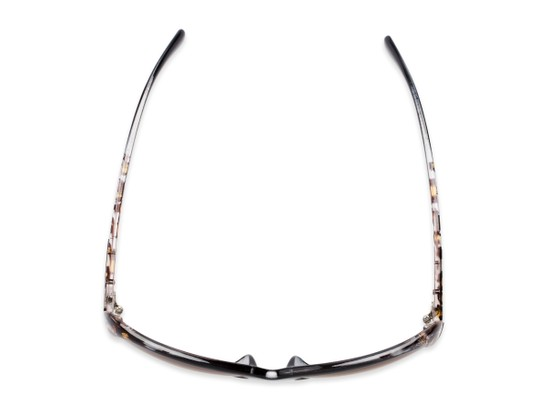 Overhead of The Cassia Bifocal Reading Sunglasses in Black Leopard with Amber
