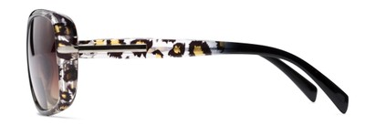 Side of The Cassia Bifocal Reading Sunglasses in Black Leopard with Amber