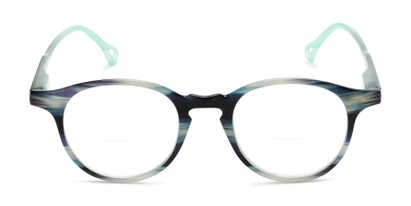 plastic round bifocal reading glasses with keyhole bridge