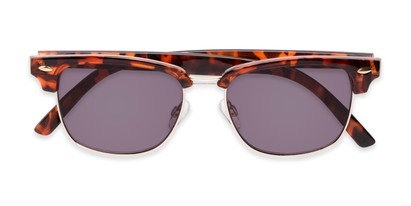 Folded of The Cayman Reading Sunglasses in Tortoise/Gold with Smoke