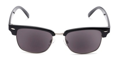 Front of The Cayman Reading Sunglasses in Black/Silver with Smoke