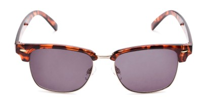 Front of The Cayman Reading Sunglasses in Tortoise/Gold with Smoke