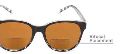 Detail of The Cecily Bifocal Reading Sunglasses in Black/Tortoise with Amber