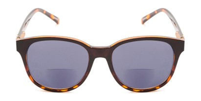Front of The Cecily Bifocal Reading Sunglasses in Brown/Tortoise with Smoke