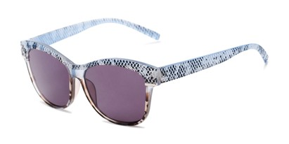 Angle of The Celine Reading Sunglasses in Blue with Smoke, Women's Cat Eye Reading Sunglasses