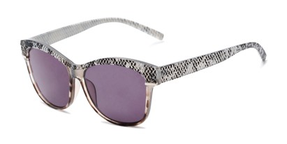 Angle of The Celine Reading Sunglasses in Grey with Smoke, Women's Cat Eye Reading Sunglasses