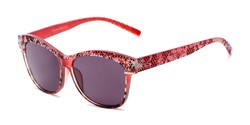 Angle of The Celine Reading Sunglasses in Red with Smoke, Women's Cat Eye Reading Sunglasses