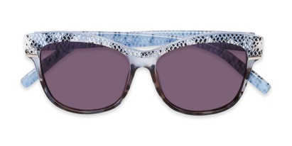 Folded of The Celine Reading Sunglasses in Blue with Smoke