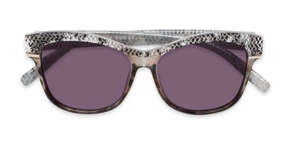 Folded of The Celine Reading Sunglasses in Grey with Smoke