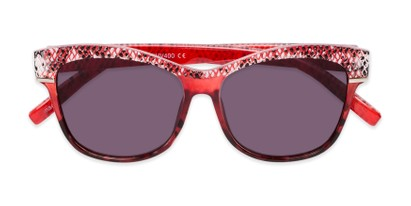 Folded of The Celine Reading Sunglasses in Red with Smoke