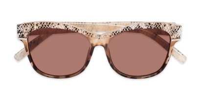 Folded of The Celine Reading Sunglasses in Tan with Amber