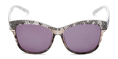Front of The Celine Reading Sunglasses in Grey with Smoke